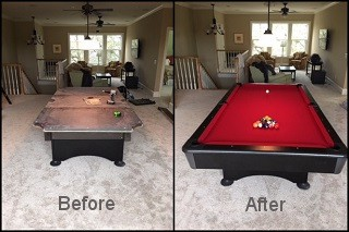 expert pool table recovering in Carrollton content img3